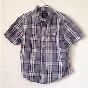 Boy's Faded Glory SS Button Down Shirt [S (6-7)]